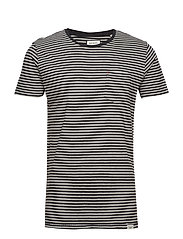 Striped tee S/S - GREY MEL