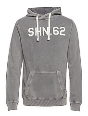 Shn.62 hoodie - STONE GREY
