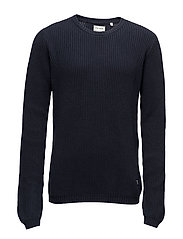 O-neck knit - DARK NAVY