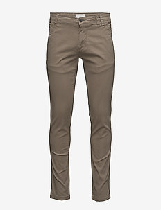 Mens stretch chino - chinos - dark sand