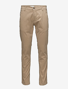Mens stretch chino - chino's - sandstorm