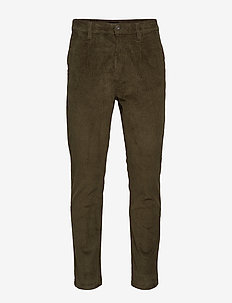 Cropped corduroy chino - ARMY