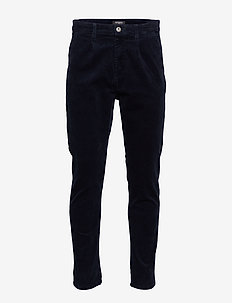 Cropped corduroy chino - NAVY