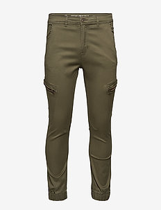 Curved leg cargo pants - cargo pants - army