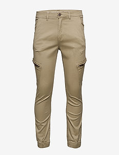 Curved leg cargo pants - cargo pants - sand