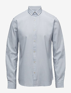 Striped oxford shirt L/S - oxford shirts - light blue