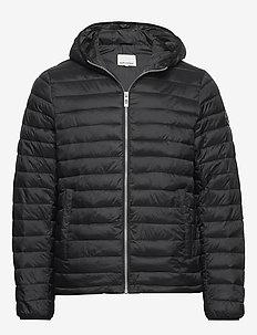 Light puffer jacket - padded jackets - black