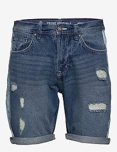 Loose fit denim shorts mix - MIX BLUE