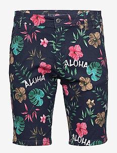 Aloha stretch chino shorts - NAVY