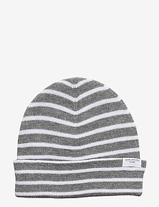 Striped beanie - GREY MEL