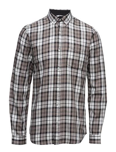 Checked cotton shirtL/S - GREY
