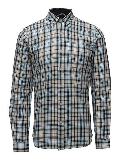 Checked cotton shirtL/S - LIGHT BLUE