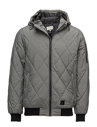 Hooded zip through jacket - LT GREY MEL