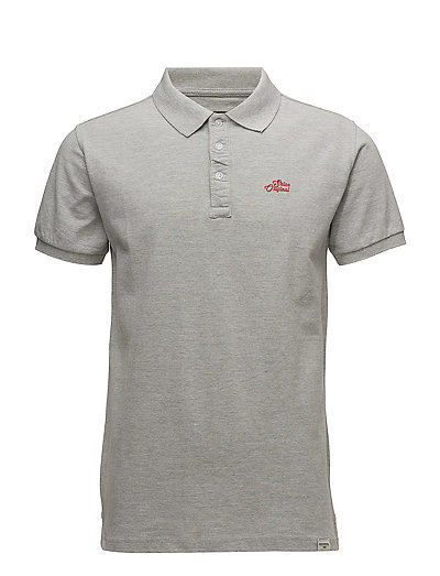 Pigment dyed polo pique S/S - GREY MEL