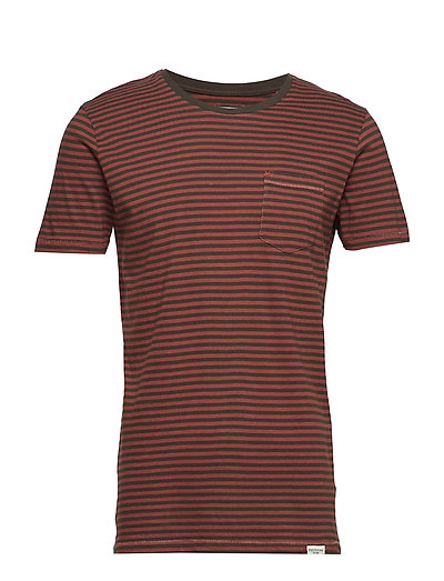 Striped tee S/S - BORDEAUX