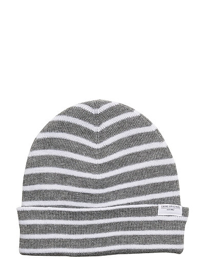 Striped beanie - GREY MEL