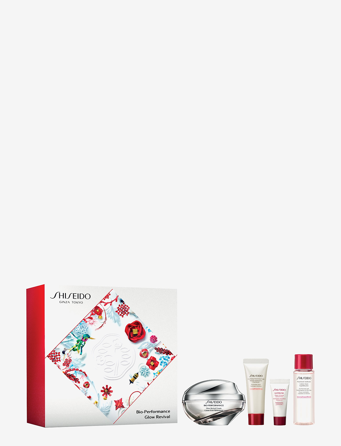 Shiseido - BIO-PERFORMANCE GLOW REV.CR 50/CLEANS F 15/SOFT 30/P INF 5ML - ihonhoitosetit - no color - 0