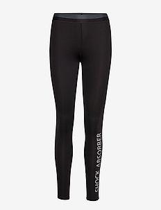 Active Branded Legging - sportleggings - black