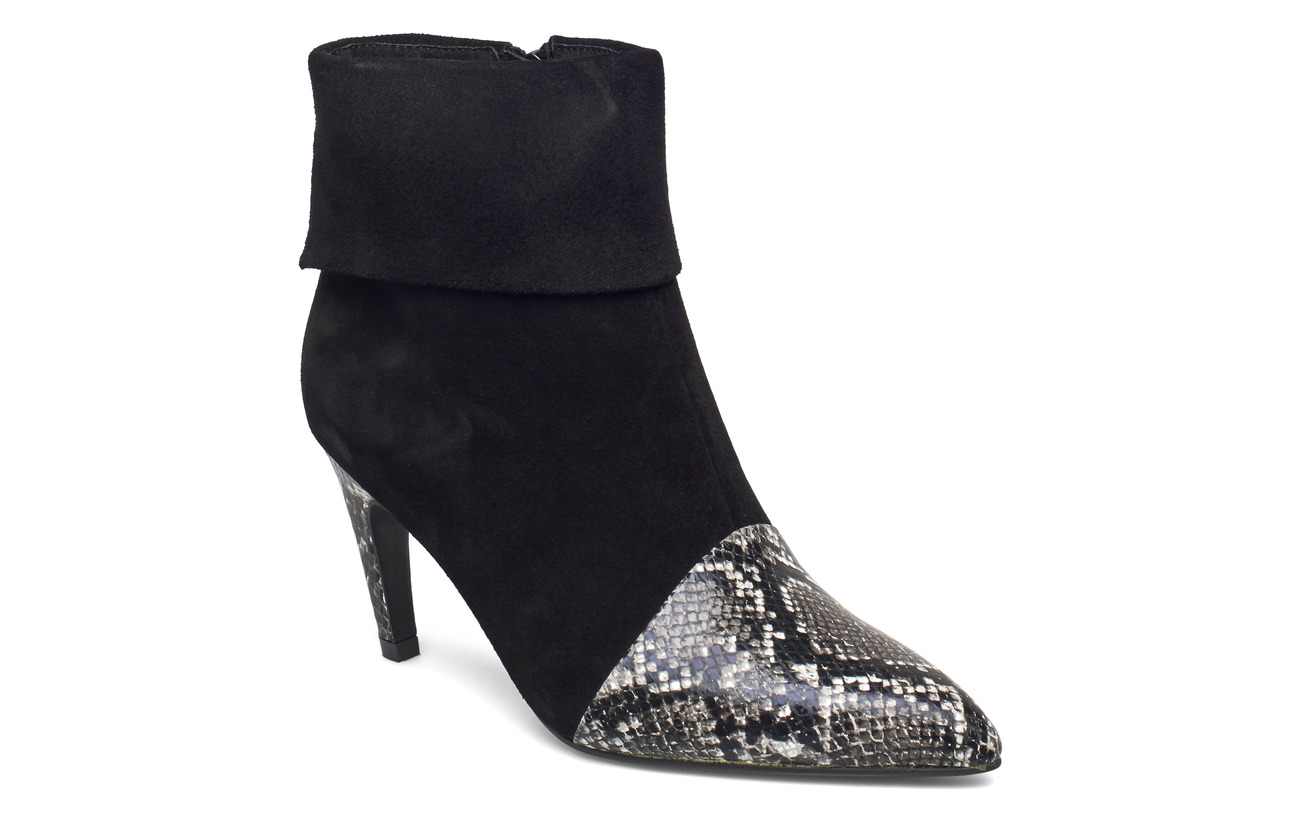 Shoe The Bear VANESSA FOLD DOWN - WHITE/BLACK