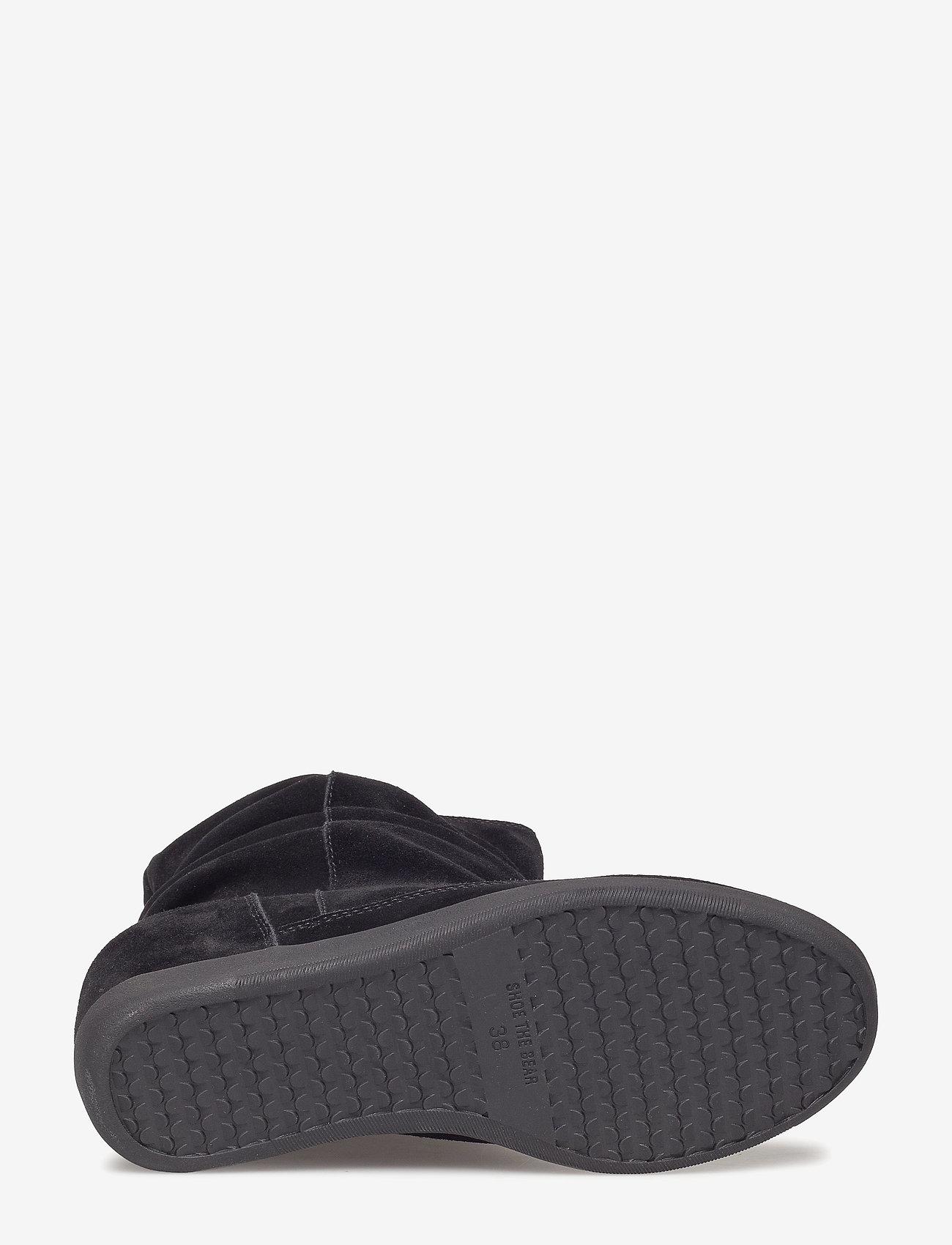 Emmy Slouchy Boot (Black / Black) - Shoe The Bear