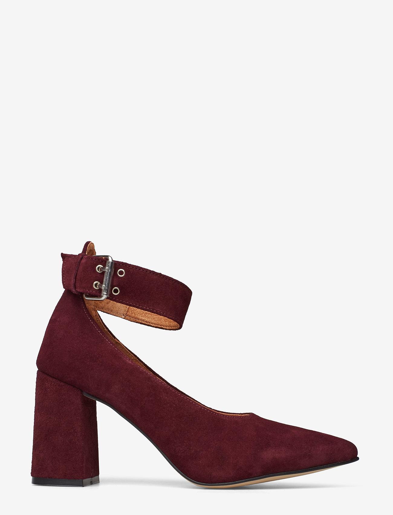 Shoe The Bear - JANE ANKLE S - klassiset piikkikorkokengät - burgundy