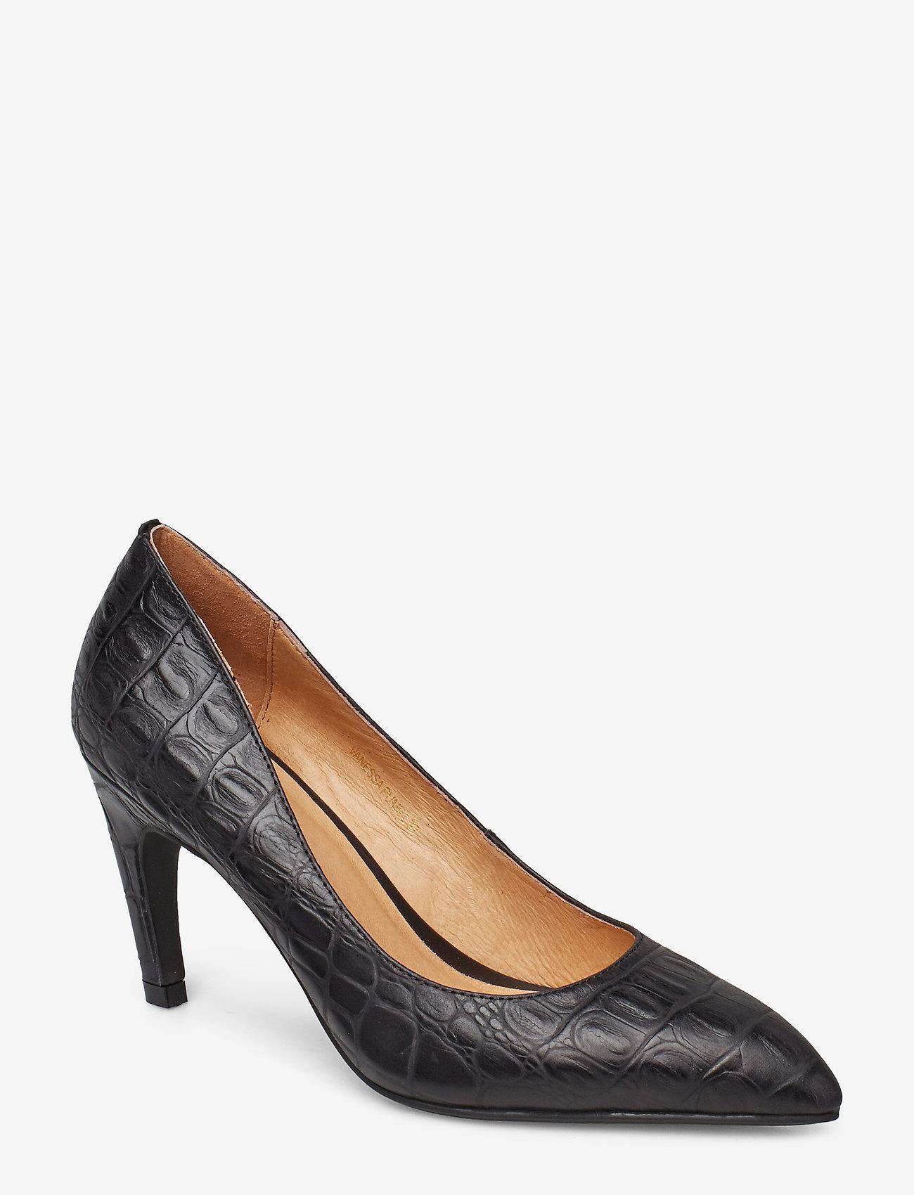 Shoe The Bear - VANESSA PUMP L - klassiset piikkikorkokengät - black croco