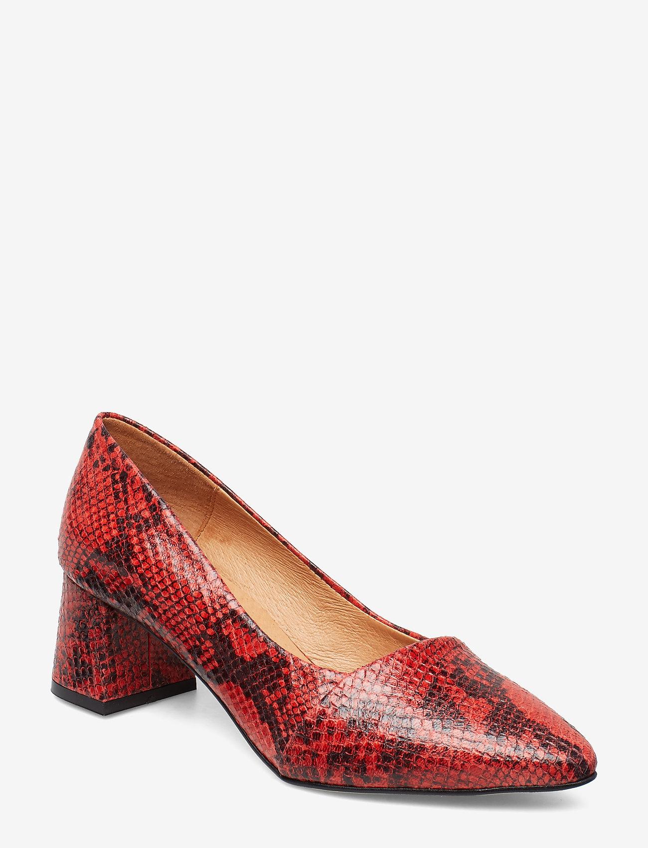 Shoe The Bear - ALLISON SNAKE - klassiset piikkikorkokengät - red