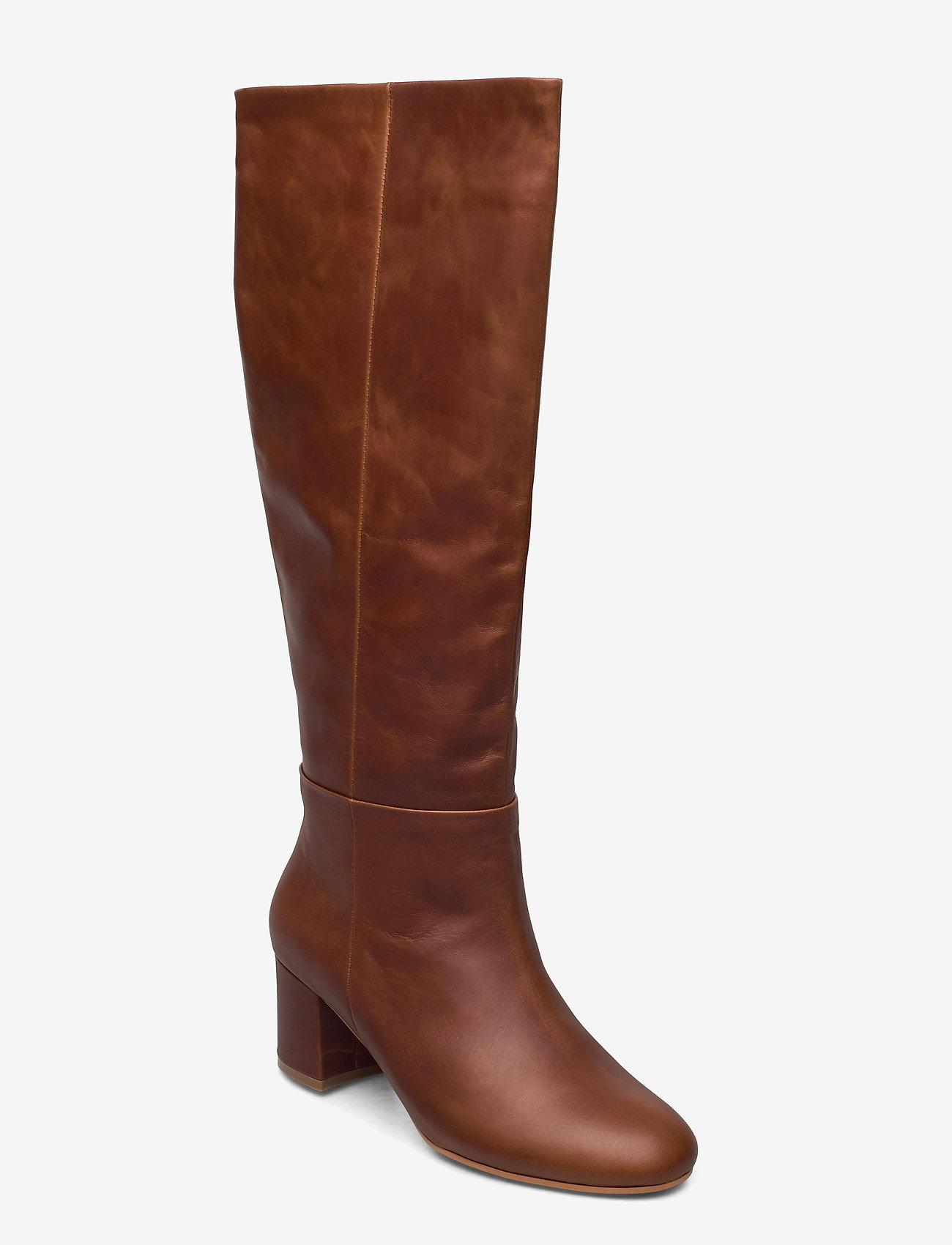 Shoe The Bear - STB-BESS PULL ON L - lange laarzen - brown - 0