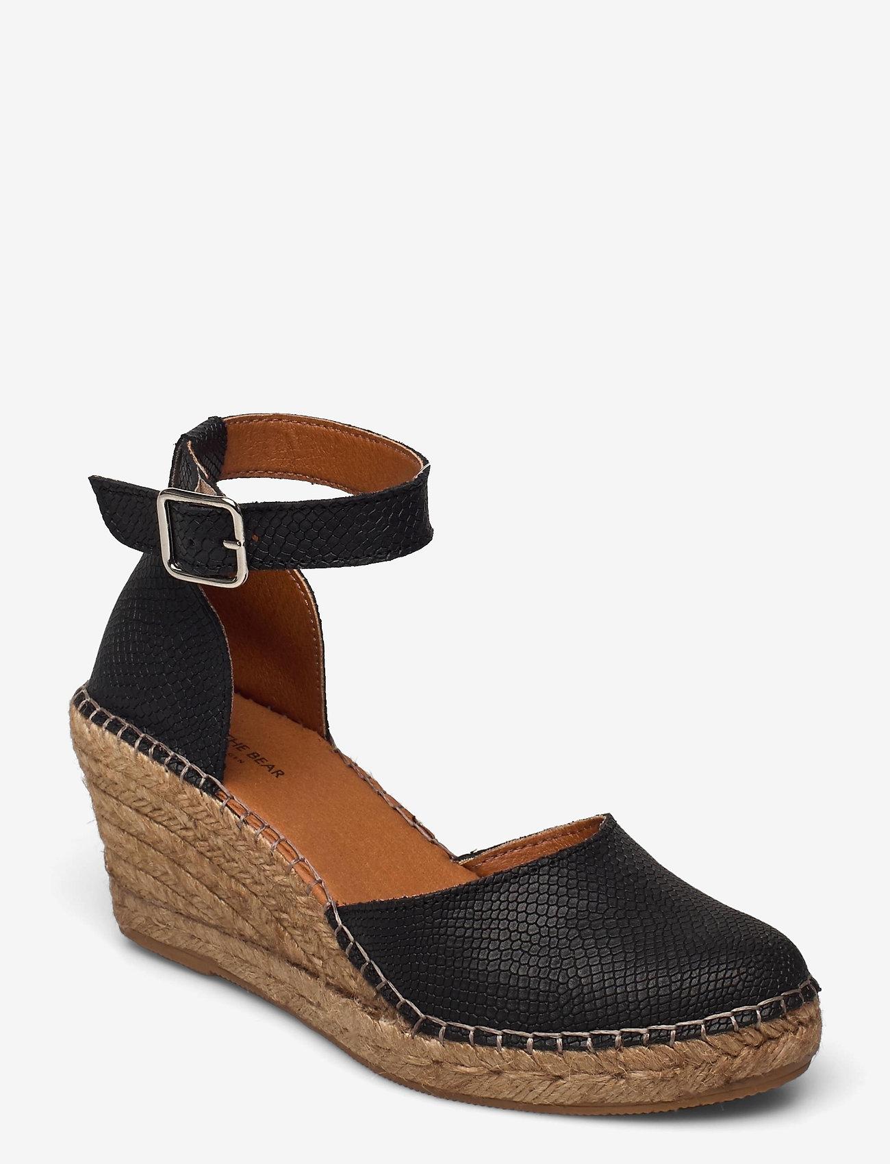 Shoe The Bear - STB-ROSEMARY LIZARD - espadrilles mit absatz - black - 0