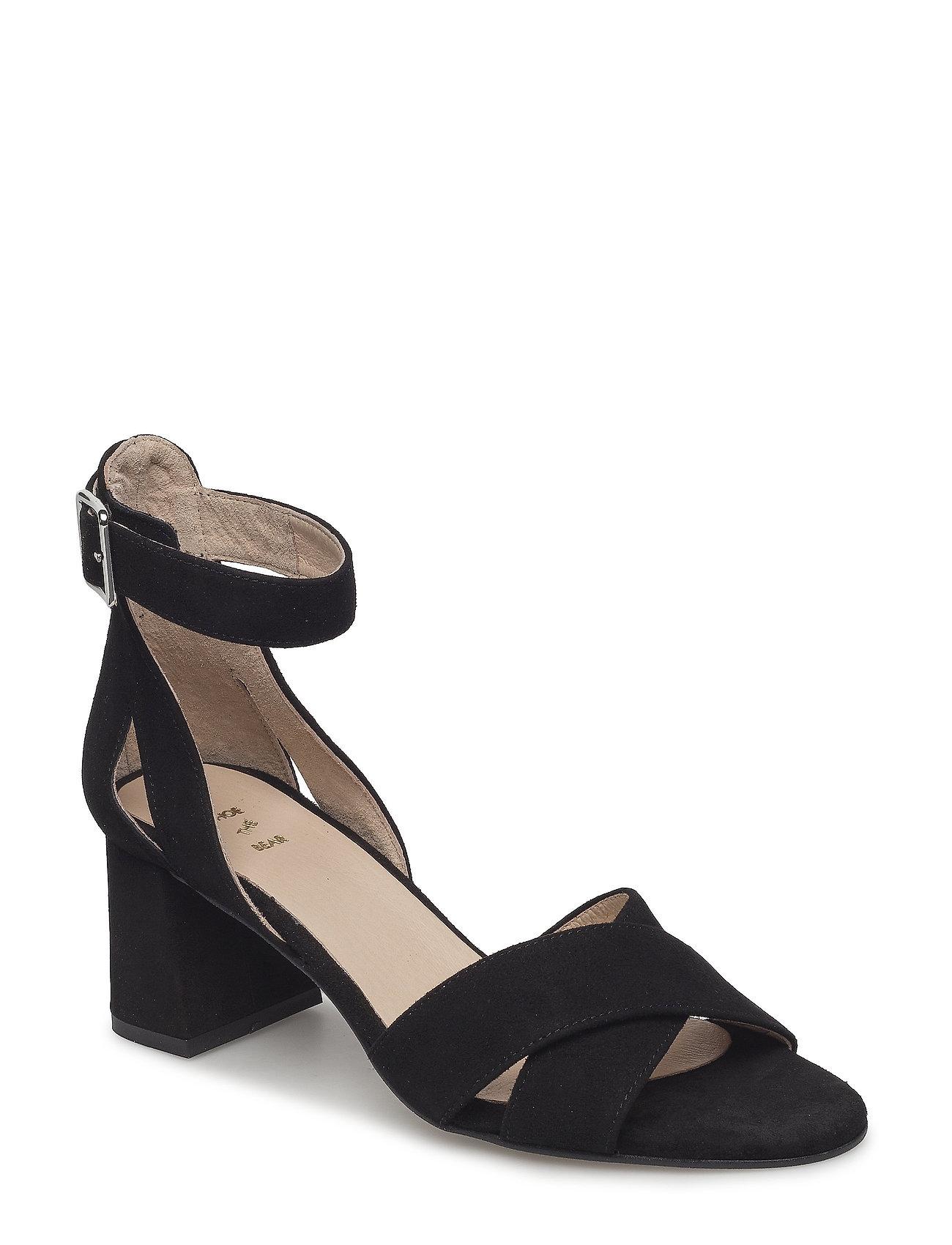 Image of May Cross Sandal Med Hæl Sort Shoe The Bear (3406160733)
