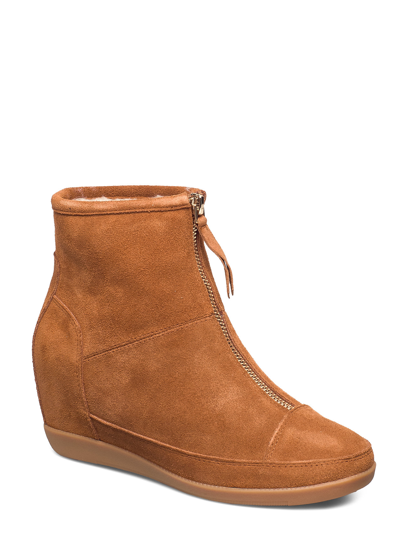 Image of Emmy Wool Boot Shoes Boots Ankle Boots Ankle Boots Flat Heel Brun Shoe The Bear (3223703925)