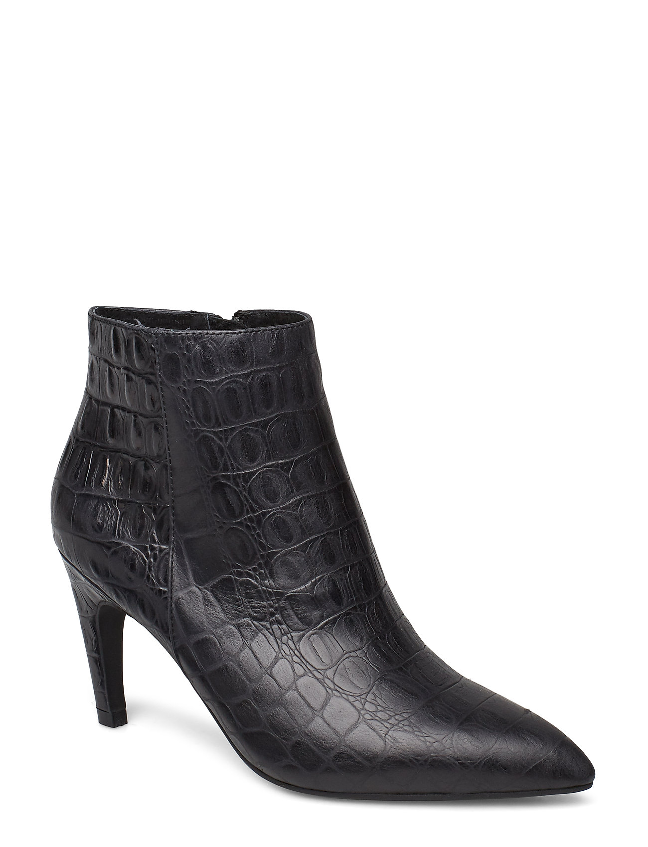 Image of Vanessa Croco L Shoes Boots Ankle Boots Ankle Boot - Heel Sort Shoe The Bear (3406197689)