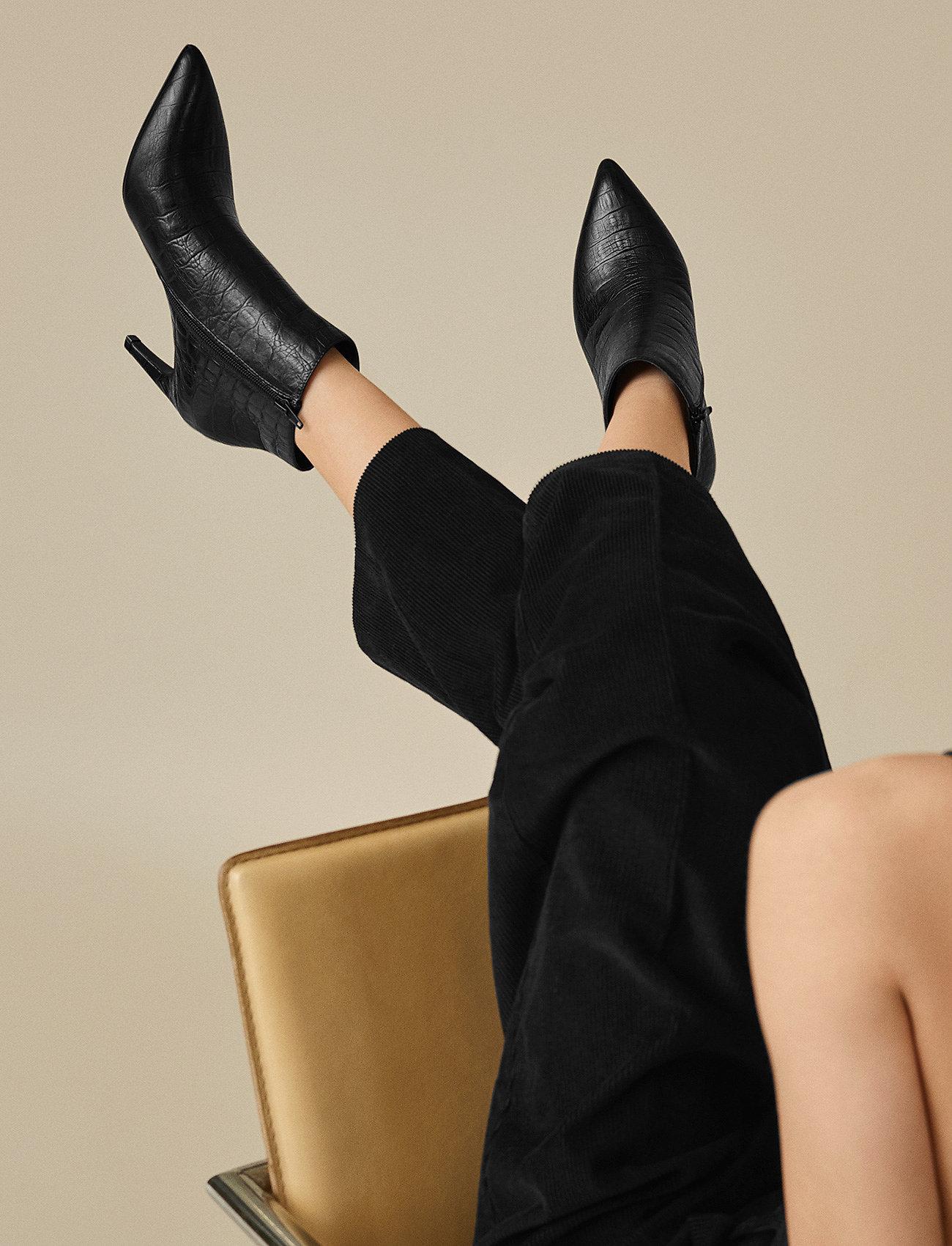 Shoe The Bear - VANESSA CROCO L - korolliset nilkkurit - black