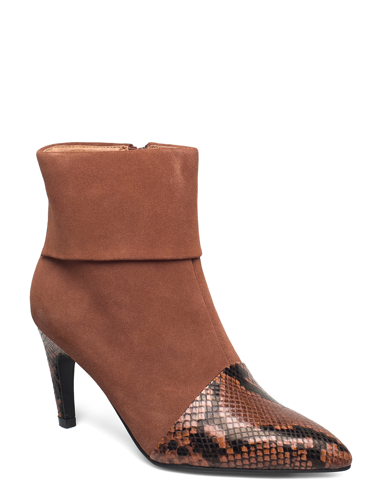Image of Vanessa Fold Down Shoes Boots Ankle Boots Ankle Boot - Heel Brun Shoe The Bear (3406190581)