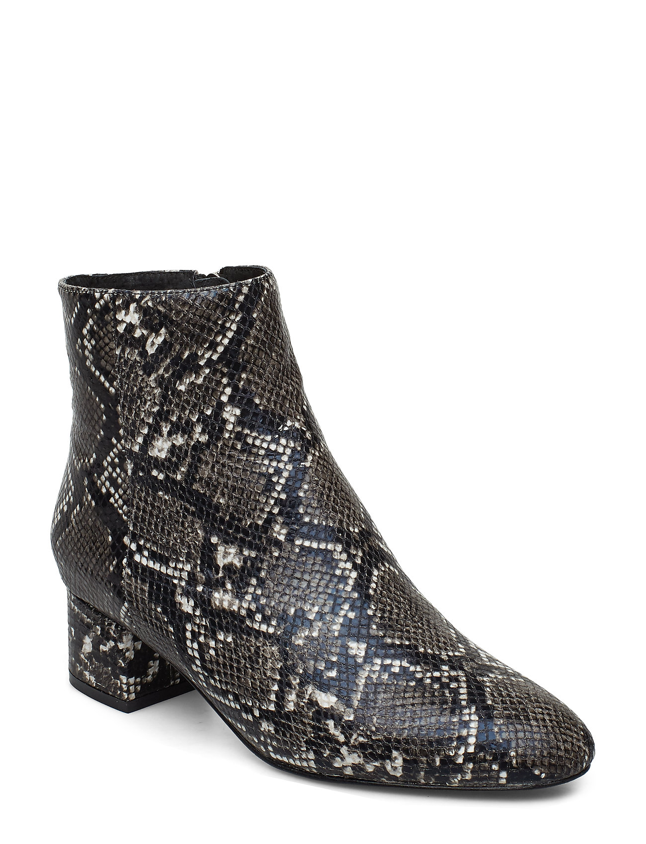 Image of Vicky Snake Shoes Boots Ankle Boots Ankle Boot - Heel Hvid Shoe The Bear (3406197703)