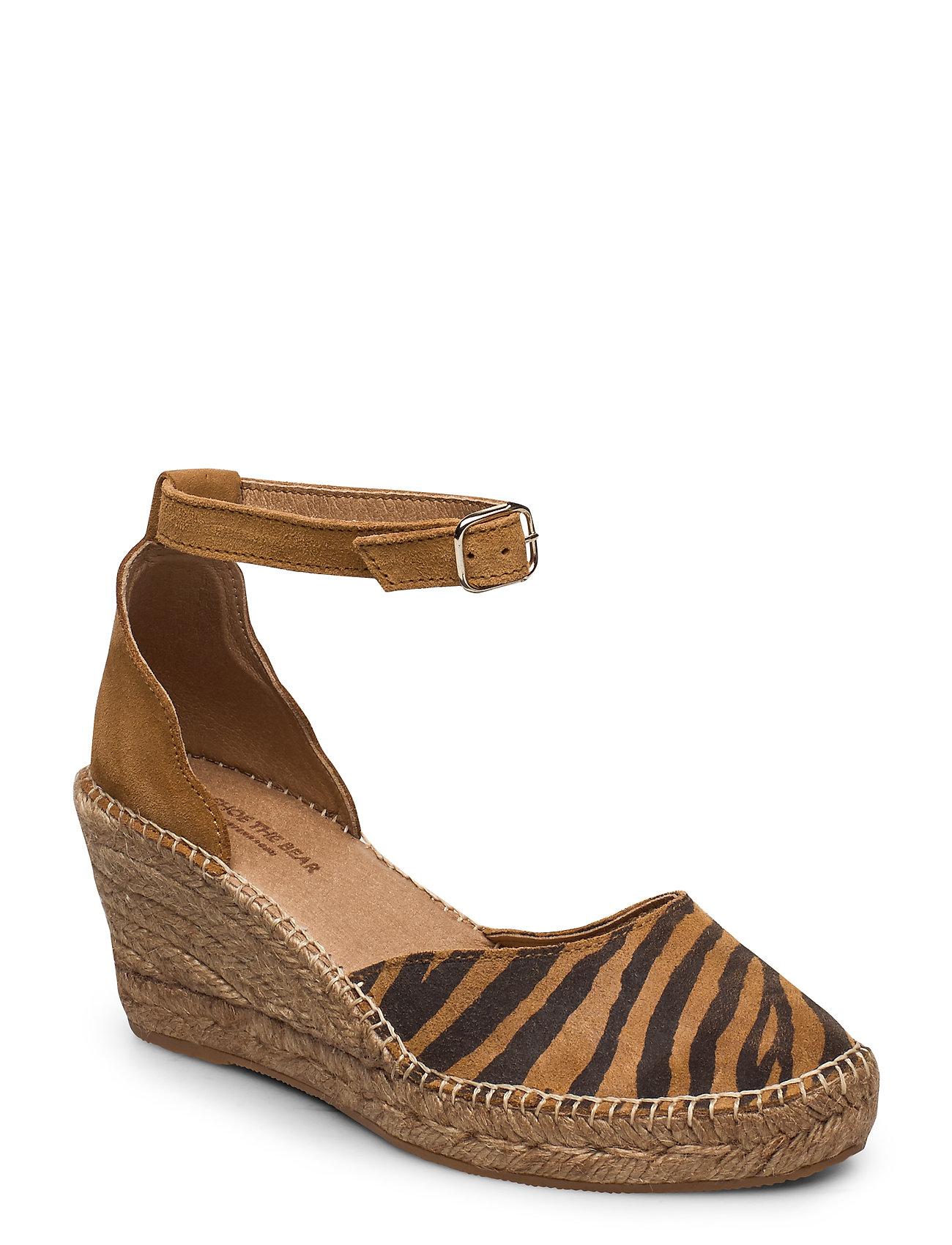 Image of Stb-Salome Ankle Strap Espadrillos Med Hæl Sandal Brun Shoe The Bear (3370074749)