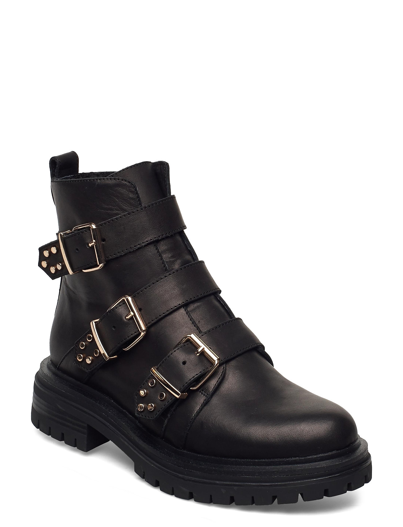 Image of Stb-Franka Strappy L Shoes Boots Ankle Boots Ankle Boot - Flat Sort Shoe The Bear (3454940029)