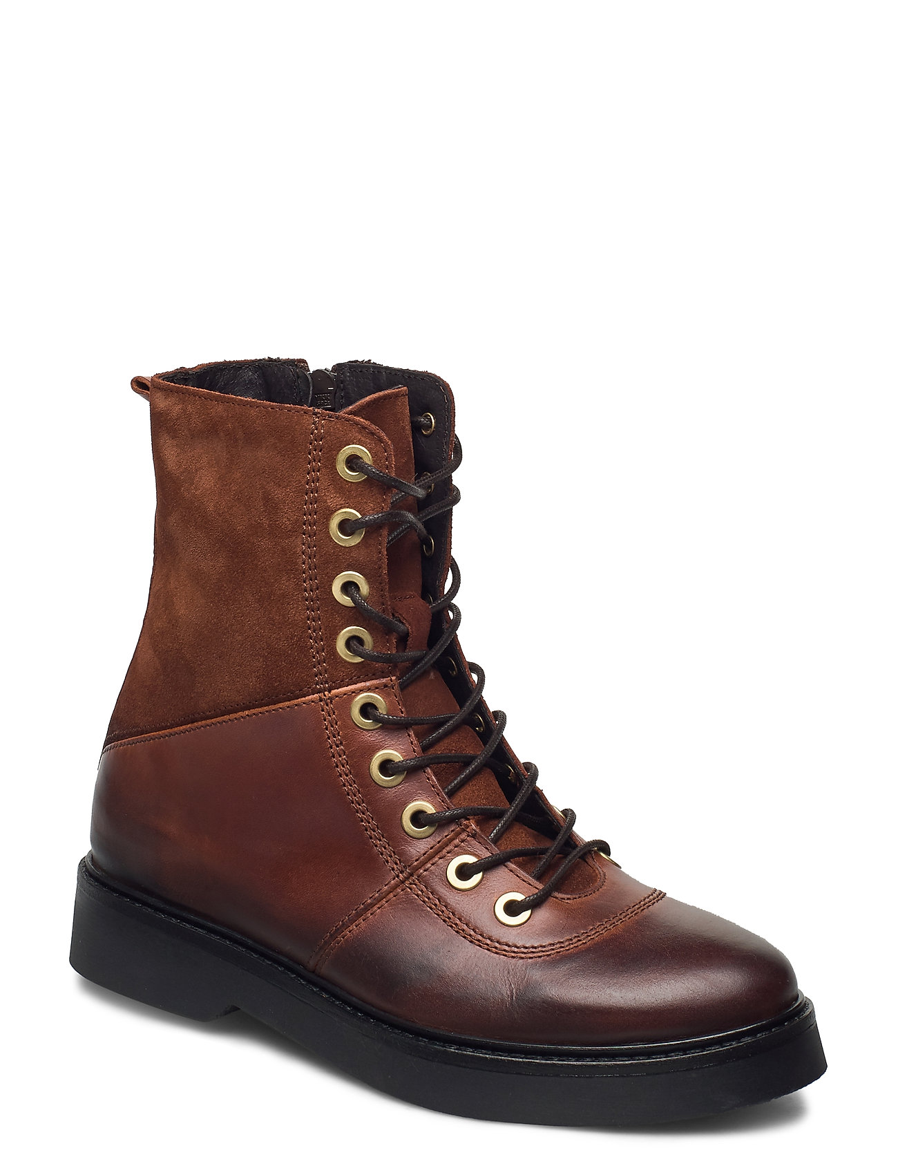Image of Stb-Billie High Lace L Shoes Boots Ankle Boots Ankle Boot - Flat Brun Shoe The Bear (3453847417)