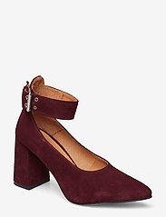 Shoe The Bear - JANE ANKLE S - klassiset piikkikorkokengät - burgundy - 0