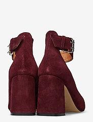 Shoe The Bear - JANE ANKLE S - klassiset piikkikorkokengät - burgundy - 4