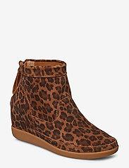 Shoe The Bear - EMMY LEO S - korolliset nilkkurit - brown leo - 0