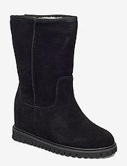 Shoe The Bear - FARA WOOL - long boots - black / black - 0