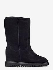 Shoe The Bear - FARA WOOL - long boots - black / black - 1
