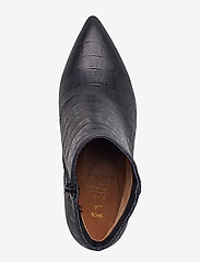 Shoe The Bear - VANESSA CROCO L - korolliset nilkkurit - black - 4