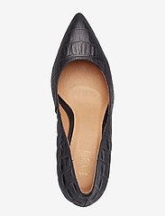 Shoe The Bear - VANESSA PUMP L - klassiset piikkikorkokengät - black croco - 3
