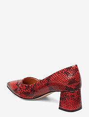 Shoe The Bear - ALLISON SNAKE - klassiset piikkikorkokengät - red - 3