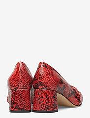 Shoe The Bear - ALLISON SNAKE - klassiset piikkikorkokengät - red - 5