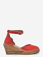 Shoe The Bear - STB-SALOME ANKLE STRAP - espadrilles met sleehak - coral red - 1