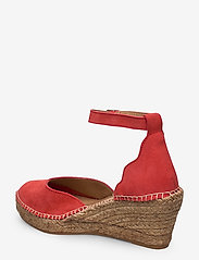 Shoe The Bear - STB-SALOME ANKLE STRAP - espadrilles met sleehak - coral red - 2