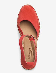 Shoe The Bear - STB-SALOME ANKLE STRAP - espadrilles met sleehak - coral red - 3